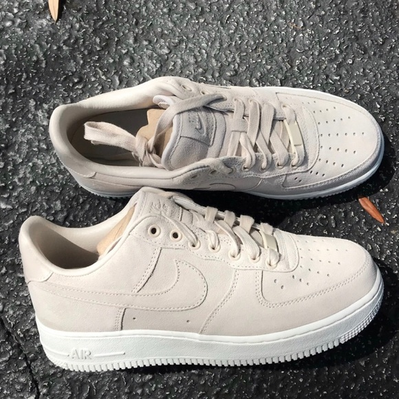 b79082973f4 NIKE ID AIR FORCE 1 NUDE WOMENS CUSTOM SHOES